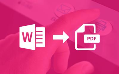 3 opcions per convertir online un Word a PDF